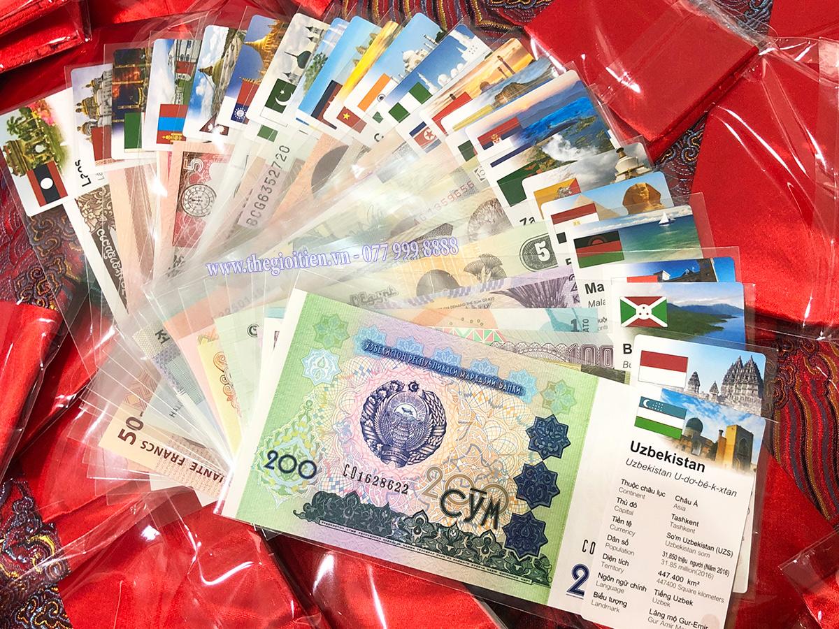 bộ tiền 52 tờ 28 nước