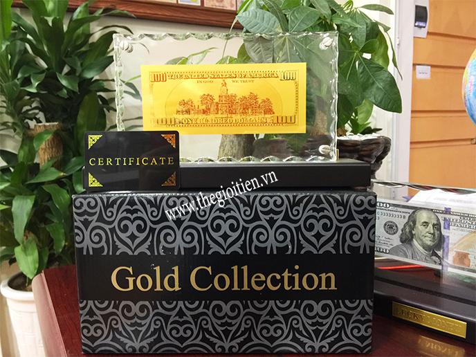 100 usd bằng vàng 24k của mỹ