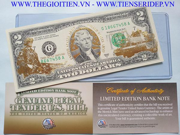 2 đô mạ vàng bộ binh