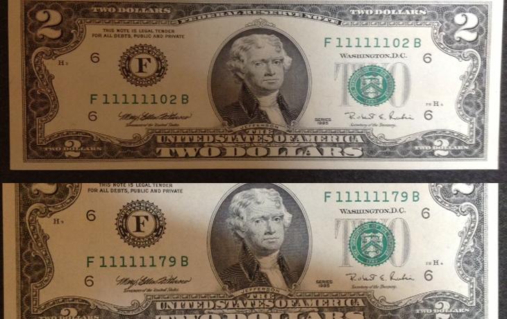 tiền seri độc đáo 730