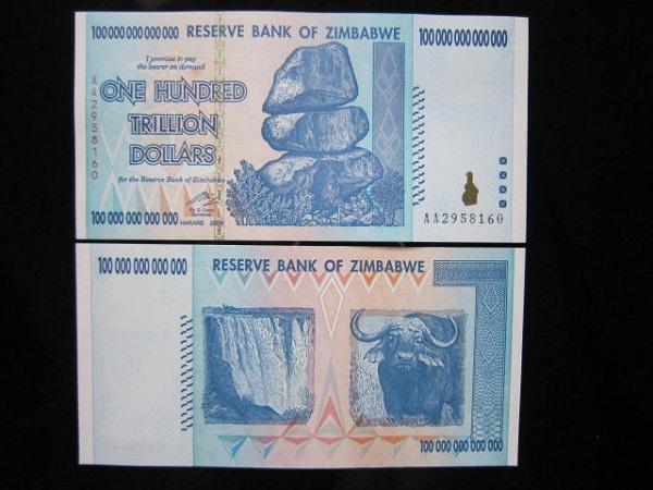 Tiền Zimbabwe 100 nghìn tỷ 604