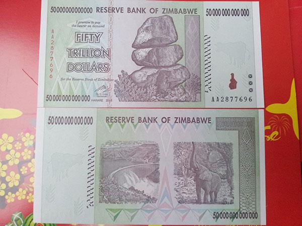 Tiền Zimbabwe 50 nghìn tỷ