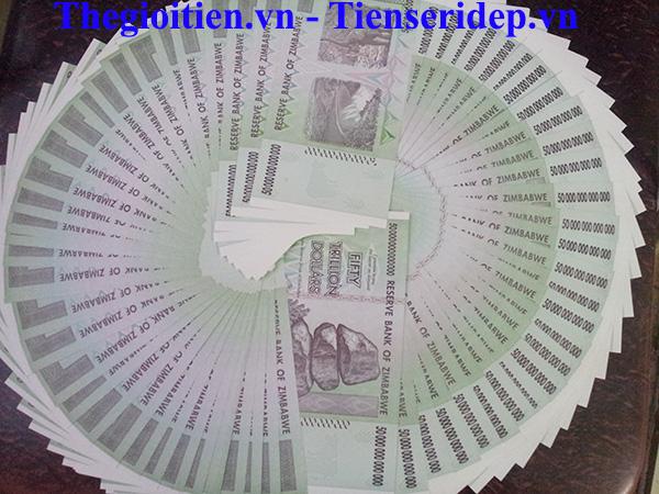 -Hình ảnhmặt trước và mặt sau của tờtiền Zimbabwe50 nghìn tỷ 600