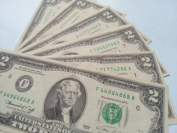 2 đô 1976 seri lộc phát, thần tài