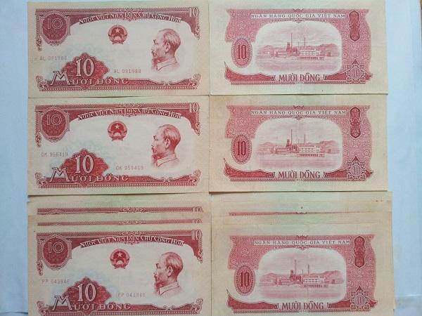 tiền 10đ cụ mượt năm 1958
