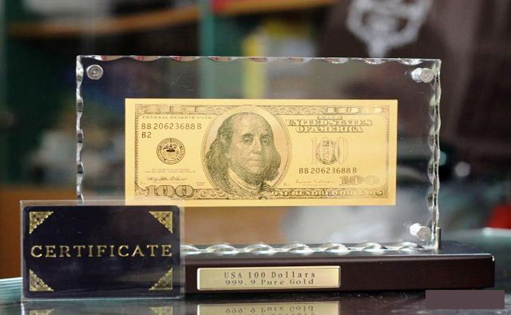 100 usd bằng vàng 9999 730