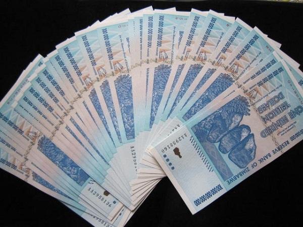 Tiền Zimbabwe 100 nghìn tỷ 600