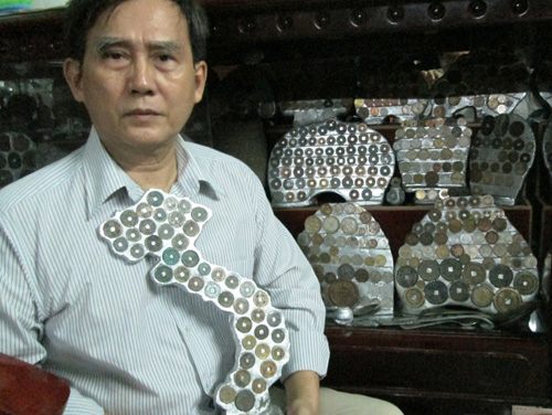 bộ sưu tập tiền cổ khủng nhất vn ông Kim khải