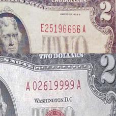 2 usd 1928 seri dep 228