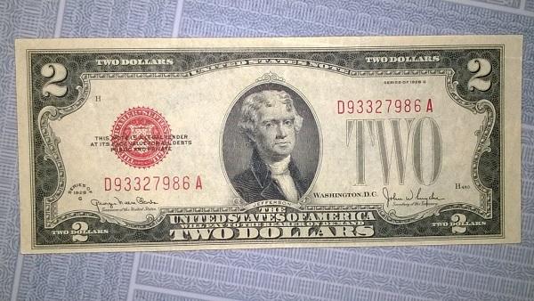 2 usd 1928 seri đẹp 7986