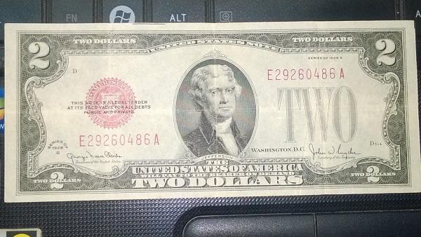 2 dollar 1928 phát lộc