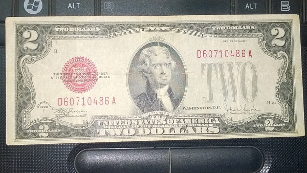 2 usd 1928 seri lộc phát