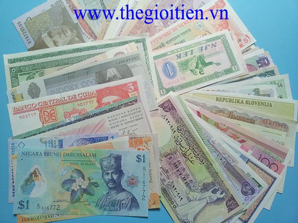 bộ 100 tờ tiền quốc tế 100 nước