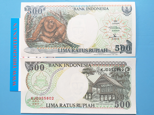 tiền khỉ indonesia 500 rupiah