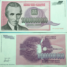 tiền nam tư 10 tỷ