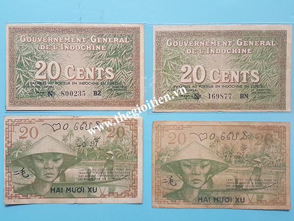 tien xua 20 cent 1939