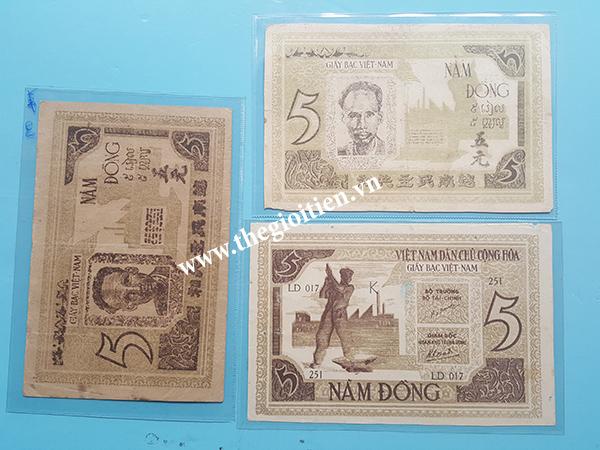 tiền giấy rơm 5đ công nhân