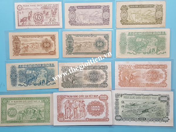 bộ tiền 1951 mặt sau