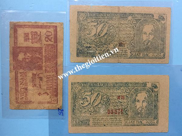 tiền giấy rơm 20xu và 50xu