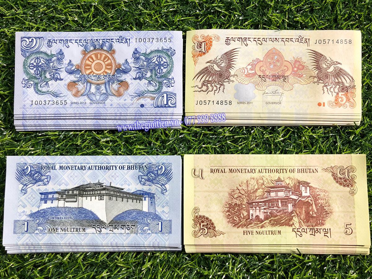 cặp tiền long phụng bhutan