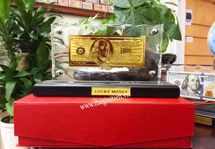 tiền 100 đô hongkong mạ vàng
