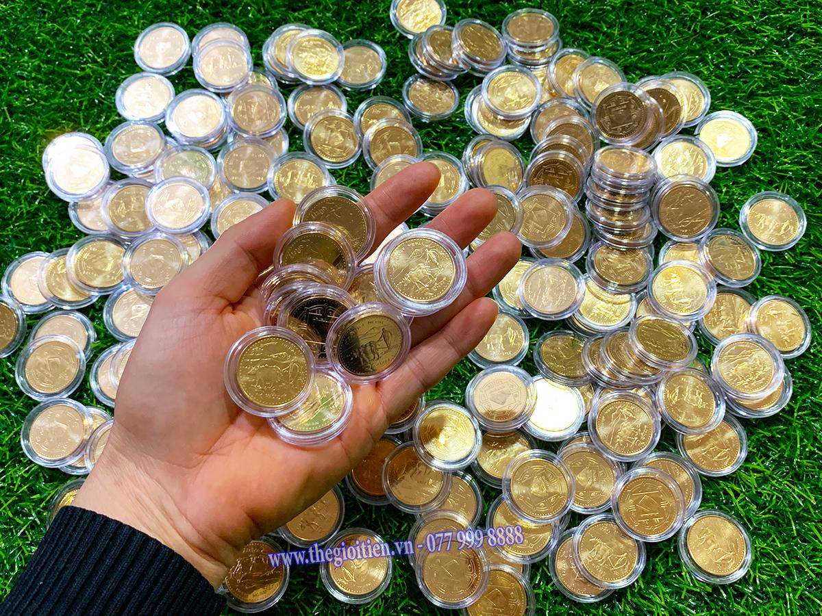đồng xu hình trâu nepal 2021