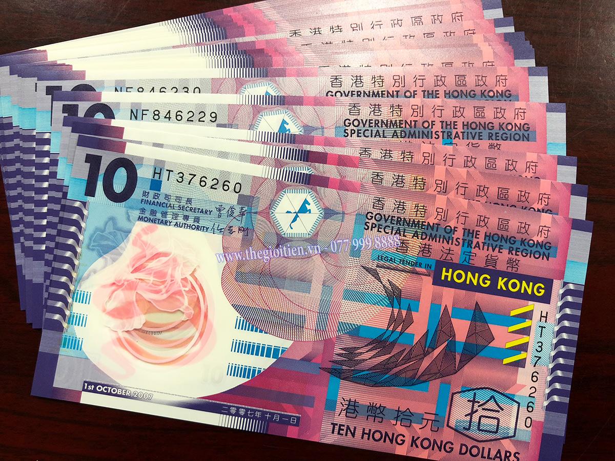 tiền 10 đô hongkong