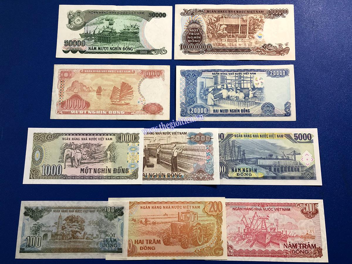 bộ tiền giấy 10 tờ xưa