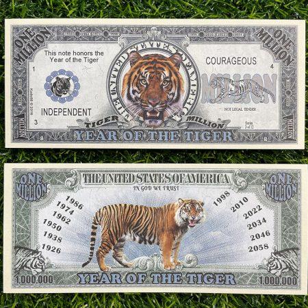 tiền 1 triệu usd con hổ